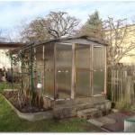 Unser Gewächshaus im Garten